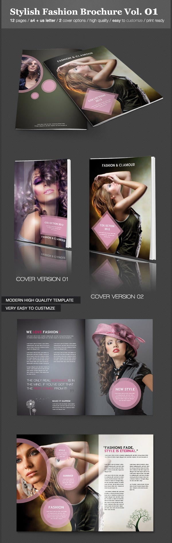 stylish fashion brochure vol01