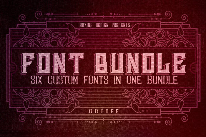 stylish fonts bundle