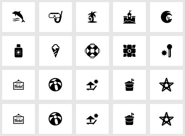 summertime ui icons