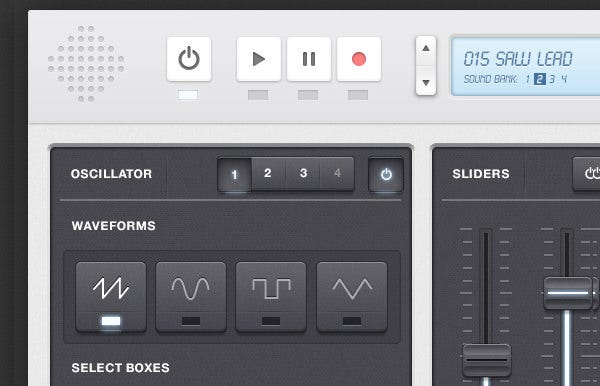 synth audio app ui kit