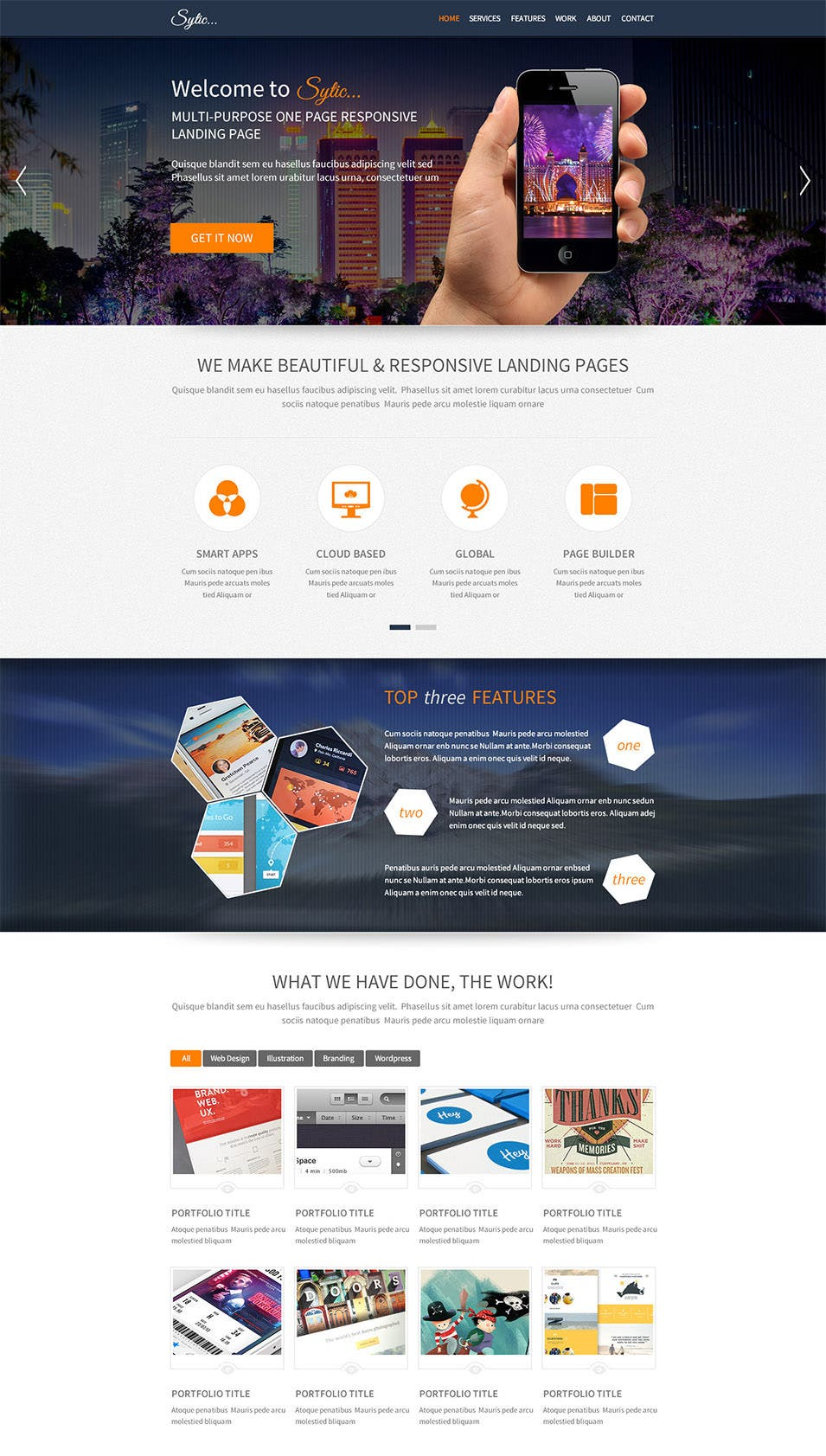sytic multi purpose psd landing page