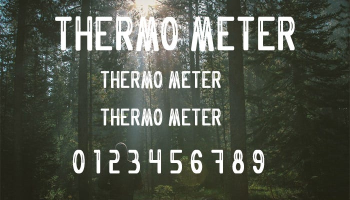 thermometer font1