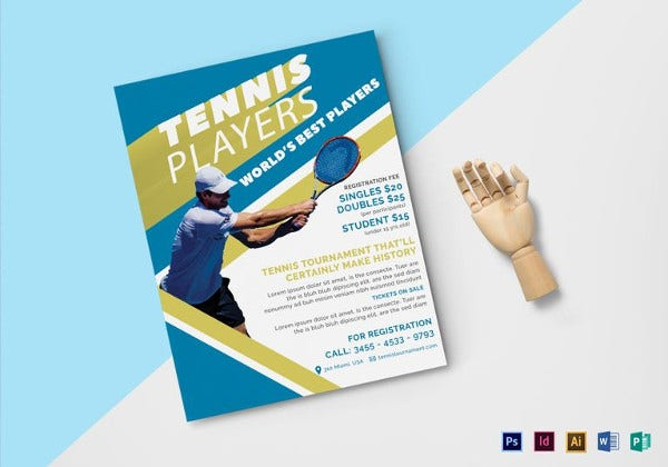 tennis-player-flyer-template