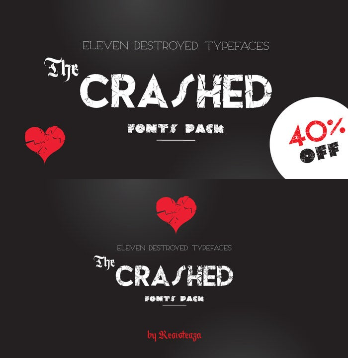 the crashed fonts1