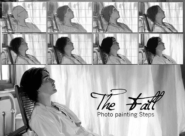 the fall photo paint steps
