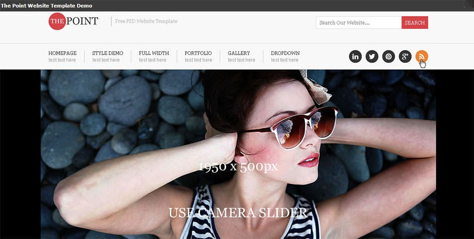 the point free psd website template psd templates os templates