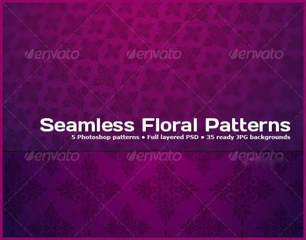 tileable floral photoshop patterns