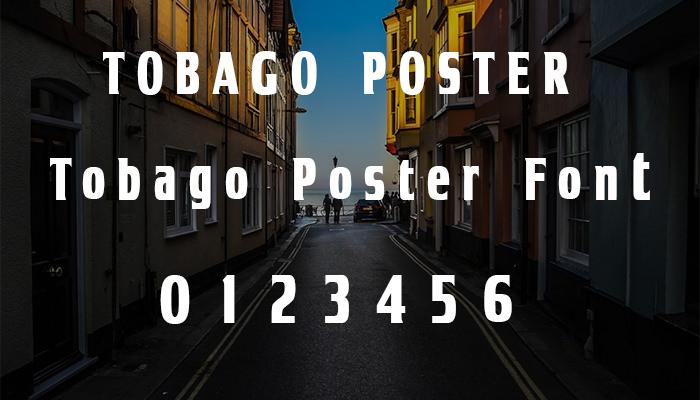 tobago poster font1