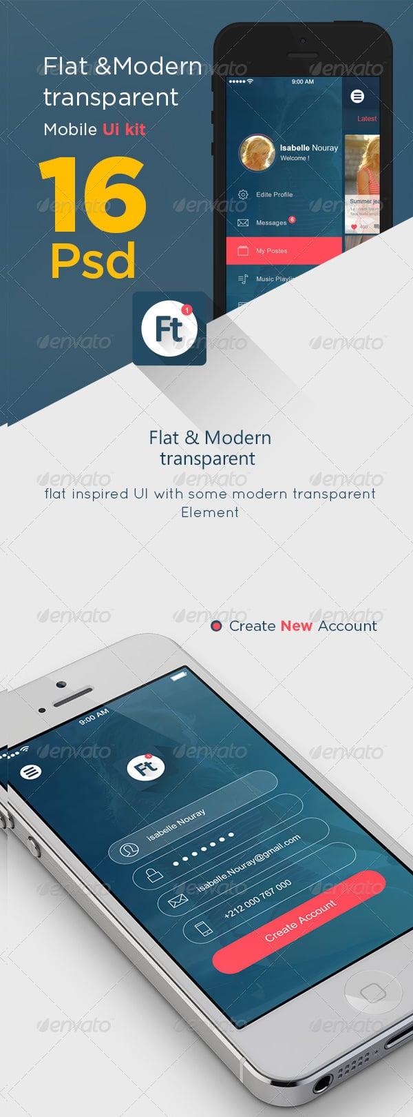 transparent app ui kit