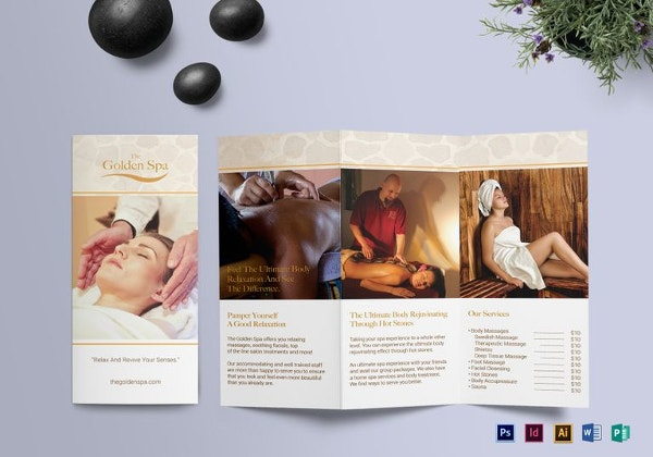 Beauty Parlour Brochure Templates Free JPG PSD Indesign - Spa brochure templates