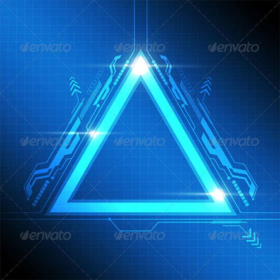 triangle frame modern design