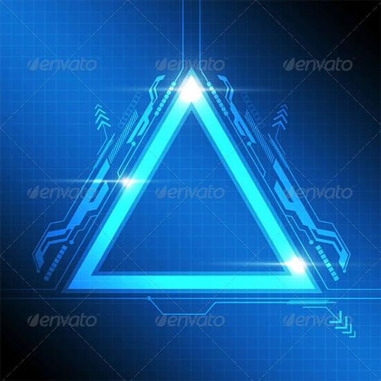 triangle frame modern design