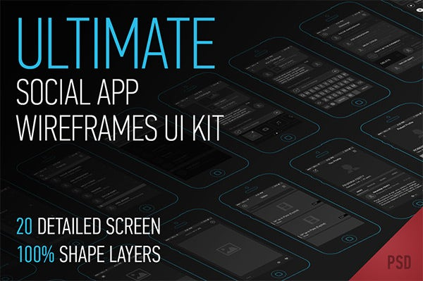 ultimate app wireframes ui kit