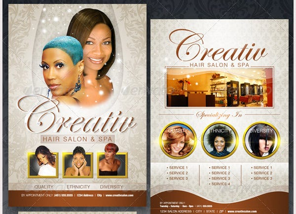 Upscale Salon Flyer