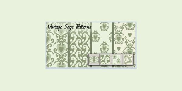 vintage sage patterns