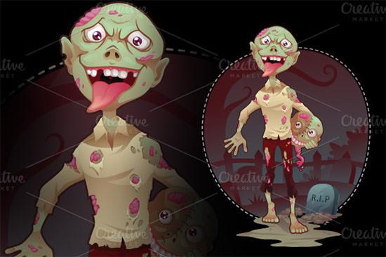vector zombie bro 2