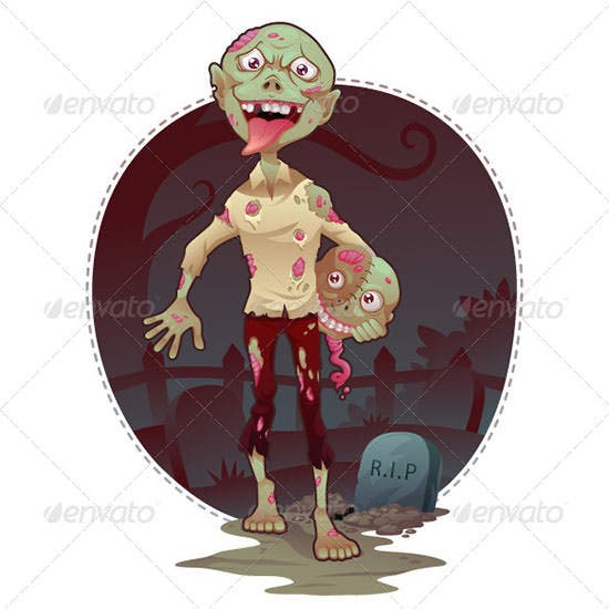 vector zombie bro