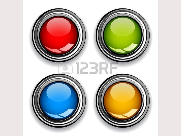 vector blank chrome glossy buttons