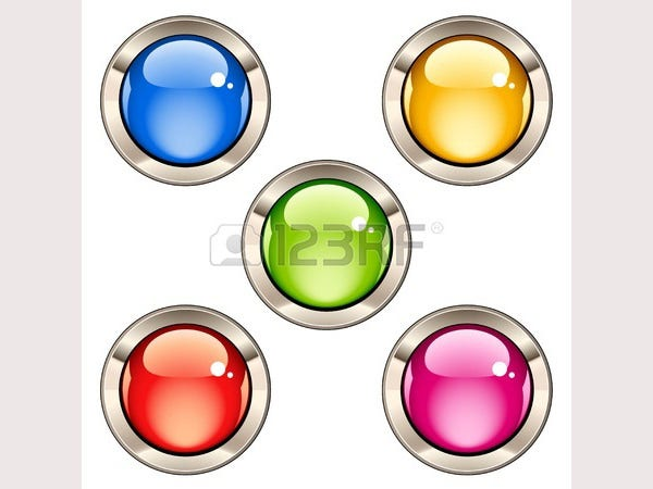 vector glossy buttons2