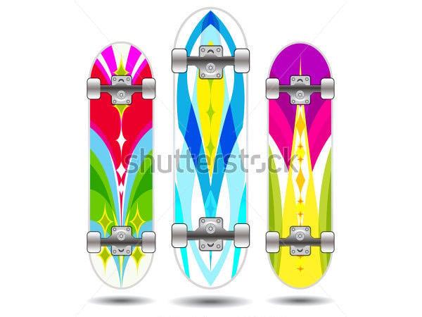 vector skateboard board designs