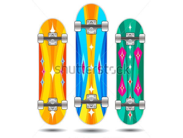 vector skateboard boards