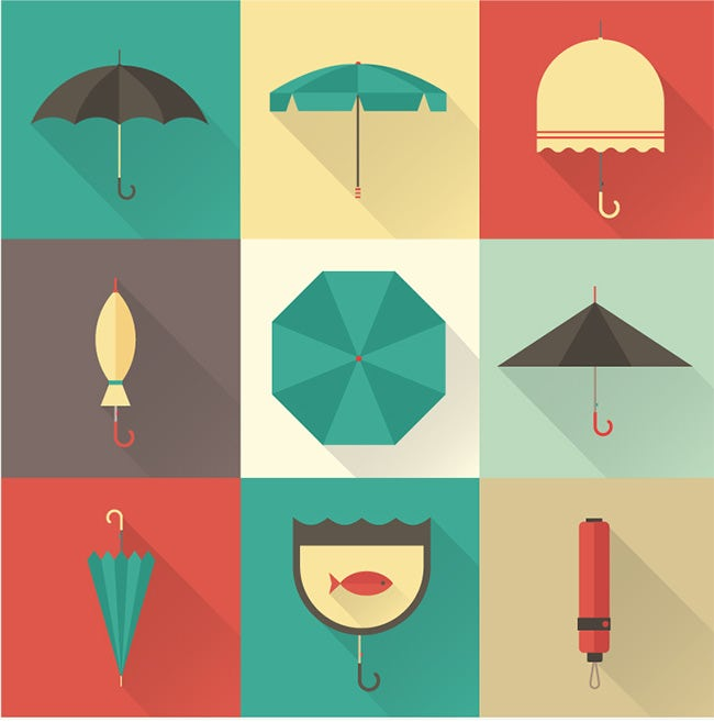 vector umbrella ui icons