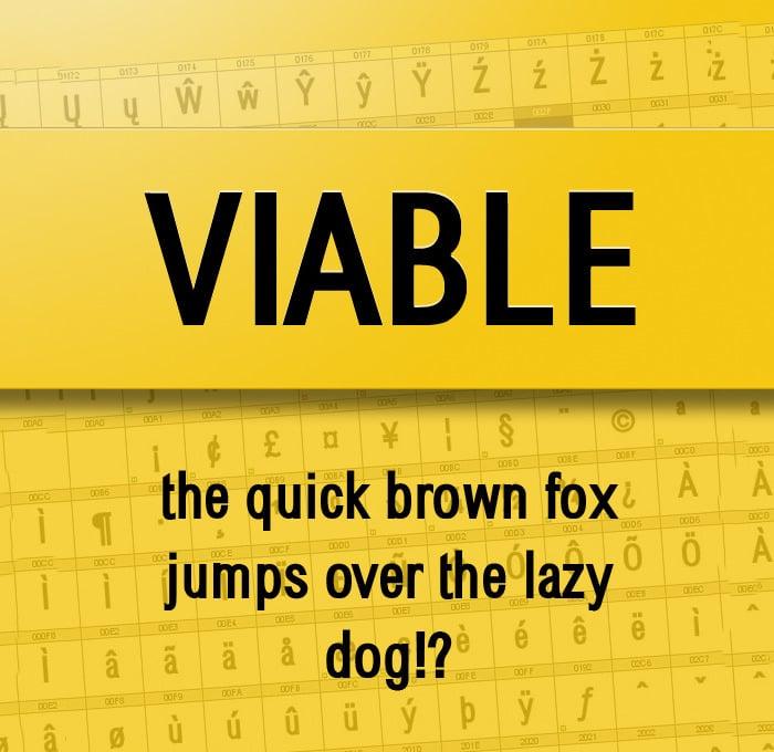 viable sans serif font1