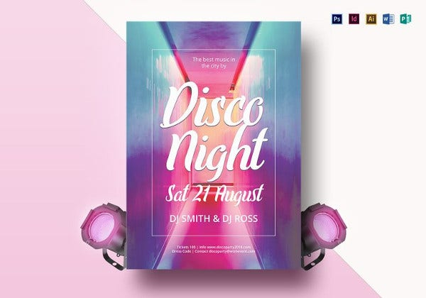vibrant disco flyer template