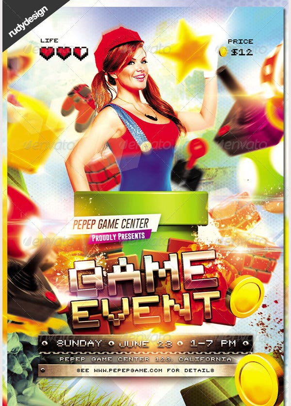 Video Games Event Flyer Design