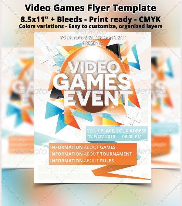 Video Games Event Flyer
