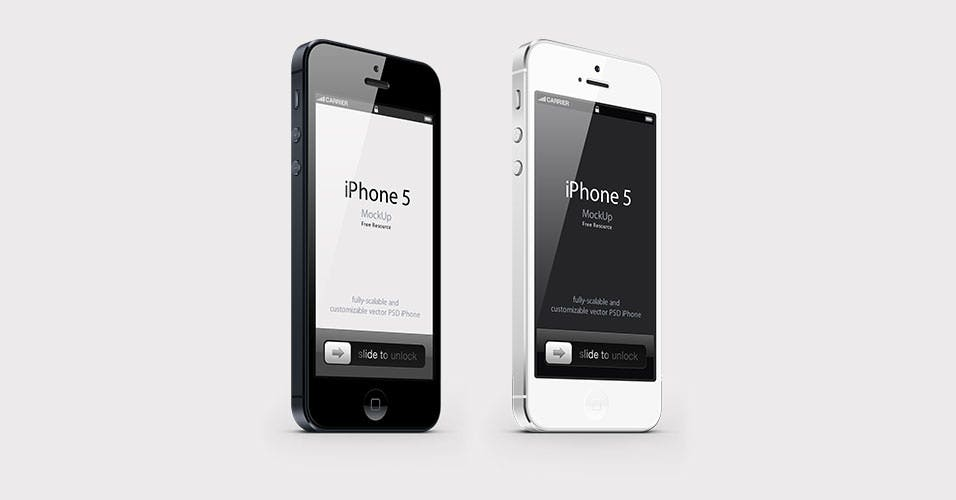 view iphone free psd