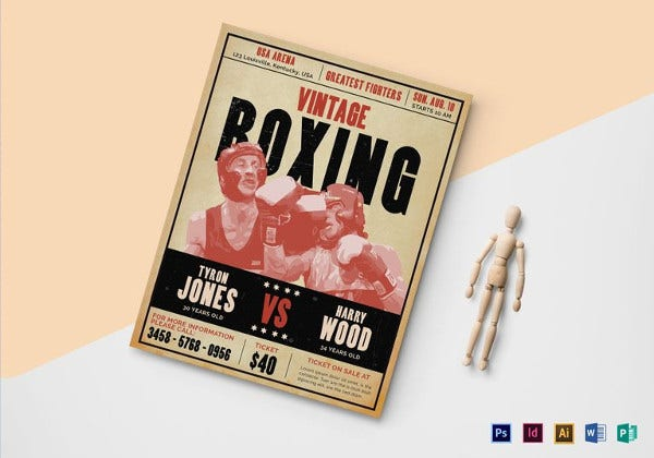 vintage-boxing-flyer-template