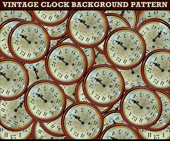 vintage clocks background pattern