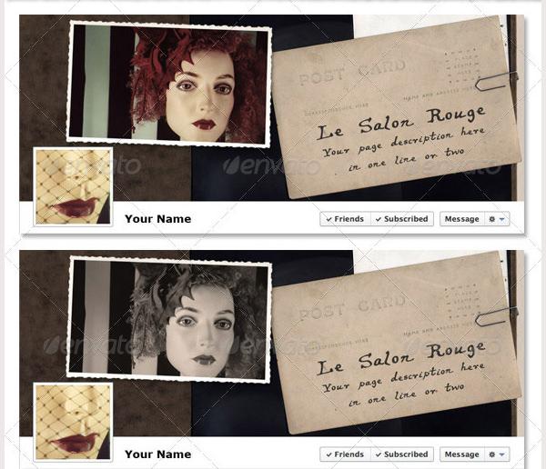 vintage postcard facebook timeline template
