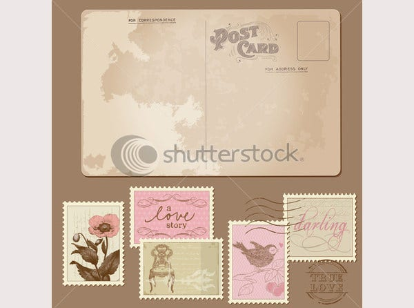 35+ Best Vintage Postcard Design Templates for Inspirations | Free ...