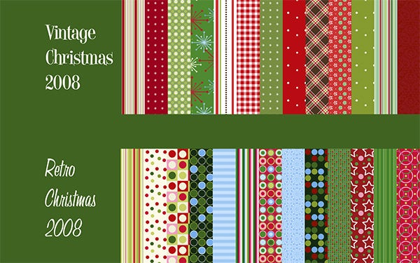 vintage retro xmas patterns