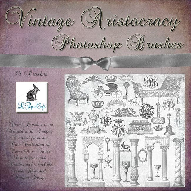 vintage royal aristocracy brush pack