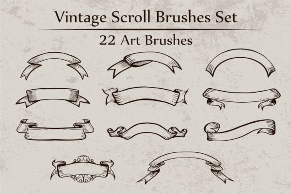 vintage-scroll-brushes-set