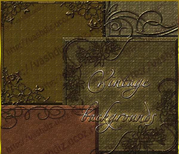 vintage backgrounds with patterns and gold texture