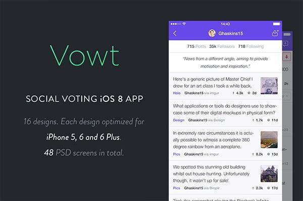 vowt app ui kit