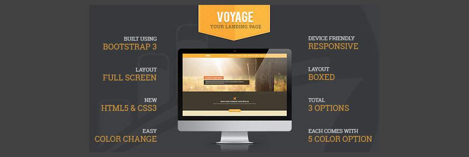 voyage tourism responsive landing page