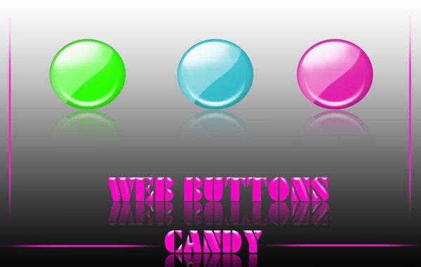 web buttons candy