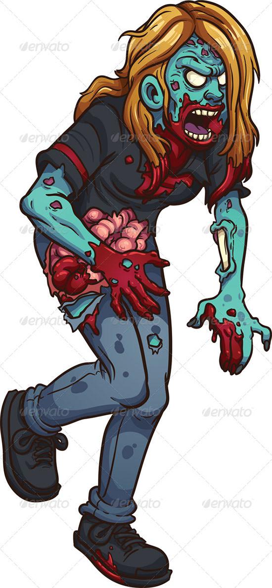 walking zombie