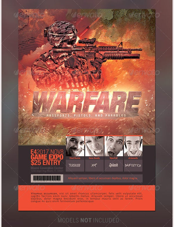 Warfare Gaming Event Flyer Template