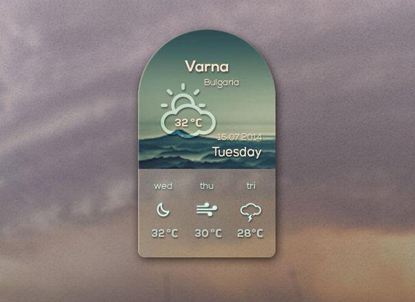 weather web element