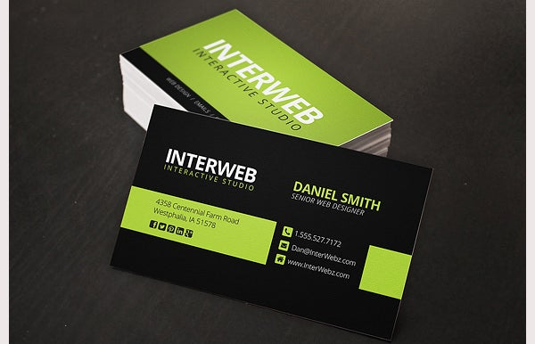 68 business cards for designers free premium templates web designer business card reheart Choice Image