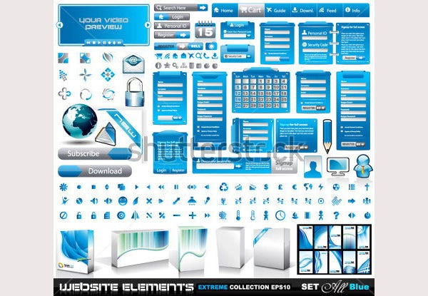 Web Elements EXTREME collection 2 All Blue