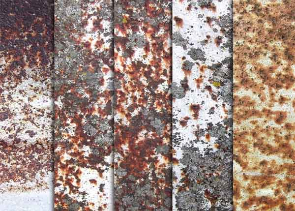 white rusty metal textures