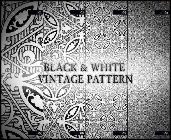 white vintage pattern