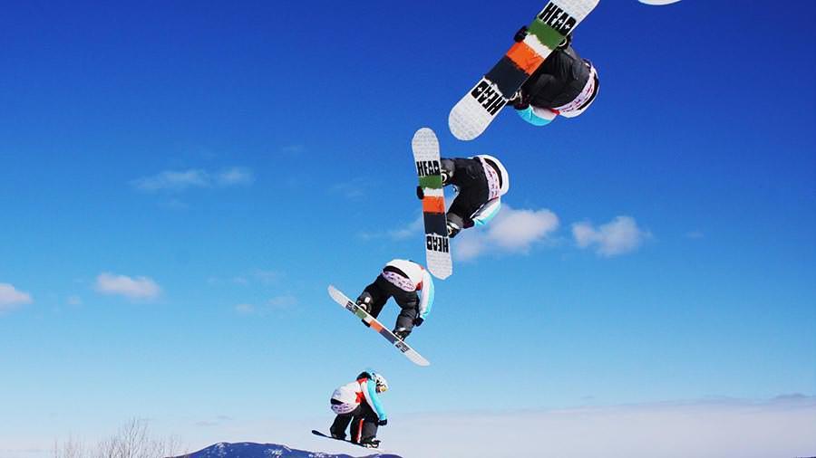 wintersports snowboarding grab